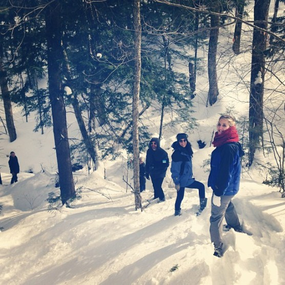 Snowshoeing on Mount Snow